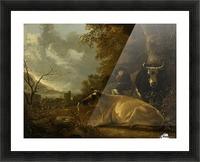 Landschap met koeien en herdersjongen Picture Frame print