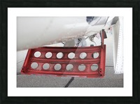 WWII Airplane Part Rudder Picture Frame print