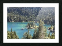 Lake of Cauma Picture Frame print