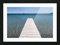 Pinarellu beach in Corse Picture Frame print
