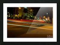 fast lights Picture Frame print
