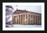 Parthenon in Nashville during winter Picture Frame print