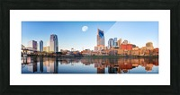 Nashville Skyline in the morning Picture Frame print