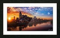 Nashville Skyline and sunset Picture Frame print