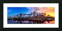 Nashville Skyline Picture Frame print