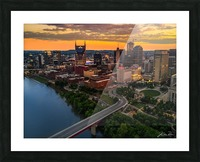 Nashville Sunset Picture Frame print