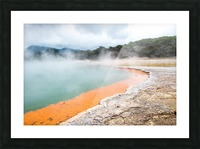 Rotorua Hot pool with steam New Zealand Picture Frame print