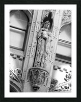 Caped Woman in Stone - B&W Picture Frame print