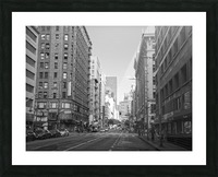 7th & Broadway DTLA - B&W Picture Frame print