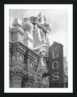 Details Los Angeles Theatre - B&W Picture Frame print