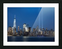 911 Memorial Lights NYC skyline Picture Frame print
