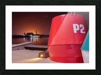 Orange lights with Geelong Pier and Buoys Picture Frame print