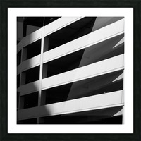 Bold Bands in Black & White Picture Frame print