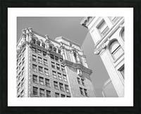 DTLA South Broadway & West 3rd - B&W Picture Frame print