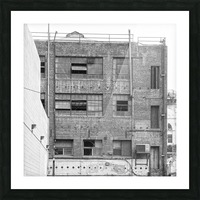 B&W Brick & Windows In Alley - DTLA  Picture Frame print