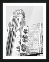 B&W Tower Theatre Clock - DTLA Picture Frame print