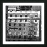 B&W Building Corner Figueroa and 6th Street Picture Frame print