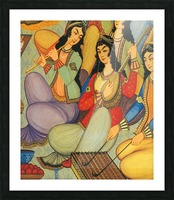 Ladies Playing Picture Frame print