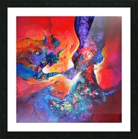 harmony II,size 33 inches x33 inches, medium acrylic on canvas Picture Frame print