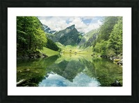 Tranquil scene of seealpsee lake  Picture Frame print