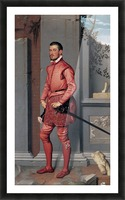 The Gentleman in Pink Picture Frame print