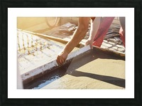 Leveling the ground Picture Frame print