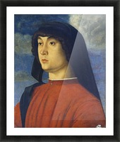 Giovanni Bellini Portrait Young Man Red Picture Frame print