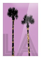 Graphic Art PALM TREES LA | pink Picture Frame print