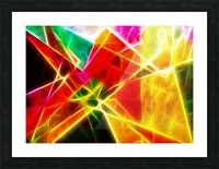 Geometric Colors Picture Frame print
