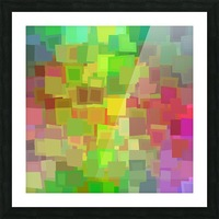 Vivid Squares Picture Frame print