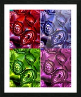 PSYCHEDELIC ROSES  Picture Frame print