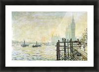 Westminster Bridge in London by Monet Picture Frame print