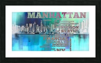 Manhattan harbor Picture Frame print