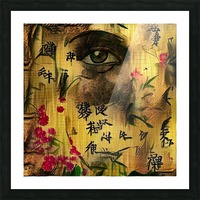 Asia Woman Picture Frame print