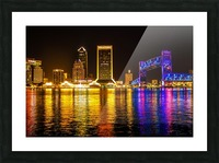 City of Lights Picture Frame print