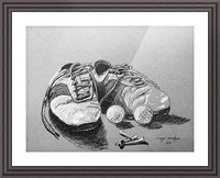 Tired  Nikes Picture Frame print