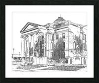 BoCoMo Courthouse  Picture Frame print
