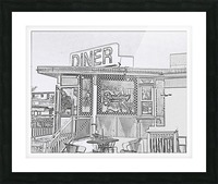 Broadway Diner Picture Frame print