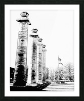 Columns At The Courthouse Picture Frame print