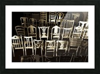 Chairs Picture Frame print