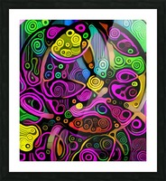 Colorful Abstract Ornament Picture Frame print
