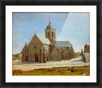Dunkerque musee BA lesidaner etaple eglise Picture Frame print