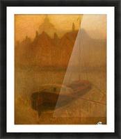 Barque sur le Canal Picture Frame print