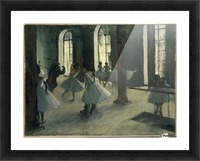 La Repetition au foyer de la danse Picture Frame print