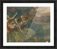 Four Dancers Picture Frame print