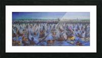 Argungu Fishing Festival, painted by Stephen Achugwo Picture Frame print