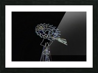 Aeromotor Windmill Picture Frame print