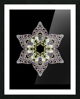 Green Star 1 Picture Frame print