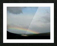 Rainbow at Thousand Smokes Picture Frame print