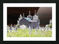 Church in Alaska Picture Frame print
